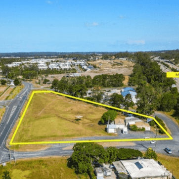 Aerial view of land in Pimpama