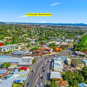 Aerial view of Ipswich Road Annerley
